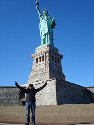 Landing on Liberty Island!
