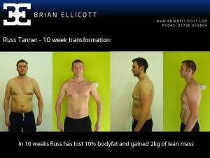 Well done Russ - 10% bodyfat lost in 10 weeks!