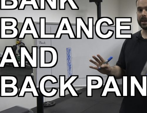 Video: Back Pain and Bank Balance.